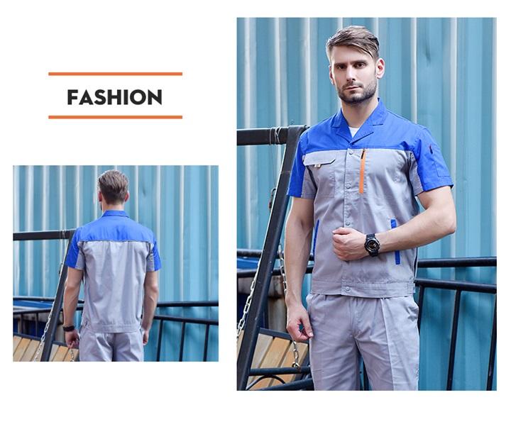 时尚拼色涤棉工作服套装(图12)