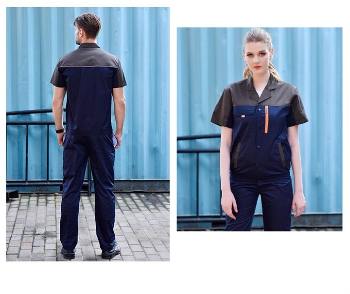 时尚拼色涤棉工作服套装(图16)