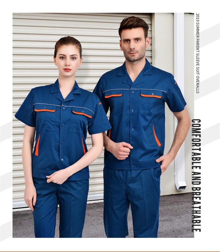 夏季CVC短袖工作服套装(图6)
